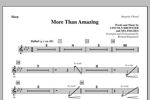 More Than Amazing - Harp (Choir Instrumental Pak)