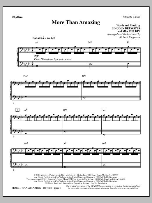 More Than Amazing - Rhythm (Choir Instrumental Pak)