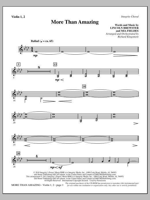 More Than Amazing - Violin 1, 2 (Choir Instrumental Pak)