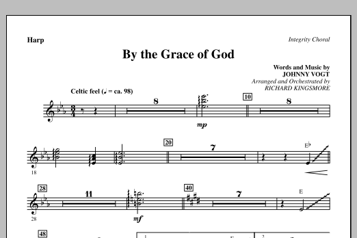 By The Grace Of God - Harp Sheet Music