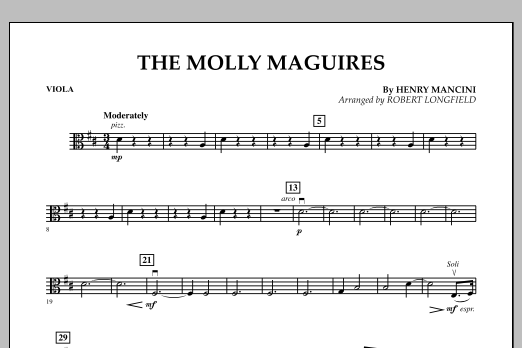 The Molly Maguires - Viola (Orchestra)