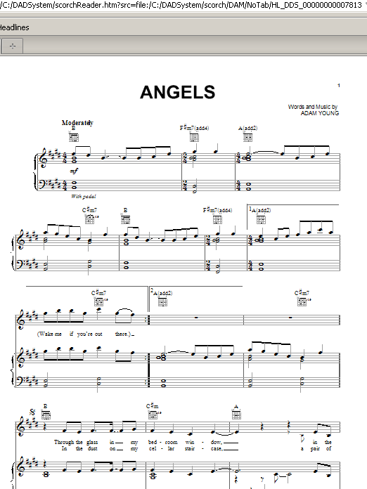 Sheet Music Digital Files To Print - Licensed Owl City
