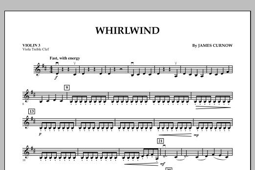 Whirlwind - Violin 3 (Viola Treble Clef) (Orchestra)
