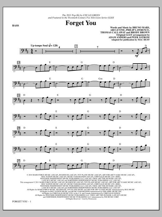 Forget You - Bass (Choir Instrumental Pak)