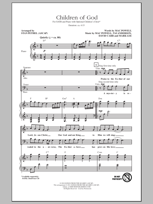 Children Of God (SATB Choir)