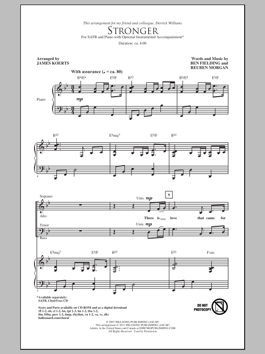 Stronger (SATB Choir)