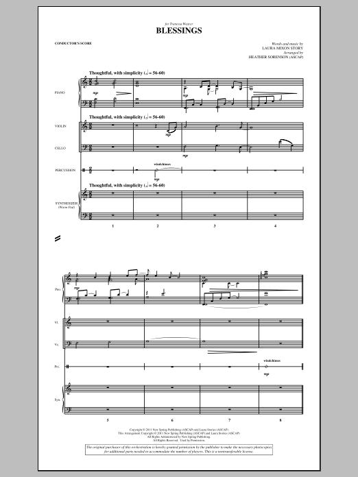 Blessings - Score (Choir Instrumental Pak)