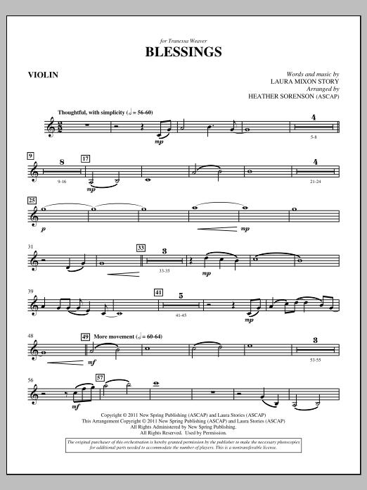 Blessings - Violin (Choir Instrumental Pak)