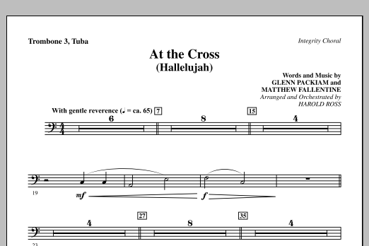 At The Cross (Hallelujah) - Trombone 3/Tuba Sheet Music