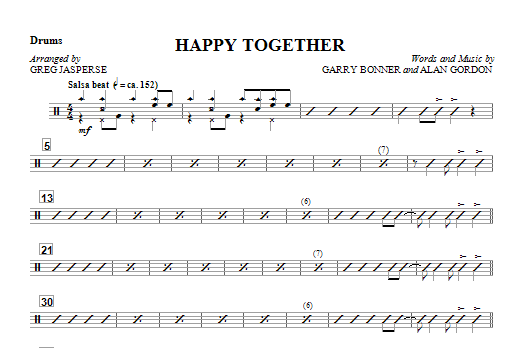 Happy Together - Drum (Opt. Set) Sheet Music
