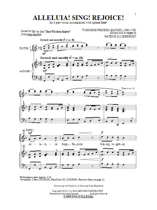 Alleluia! Sing! Rejoice! (arr. Patrick Liebergen) (2-Part Choir)