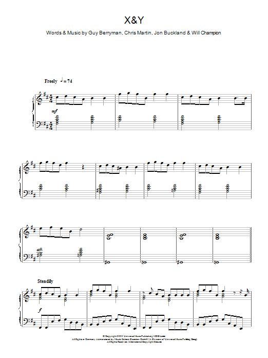 X&Y (Piano Solo)