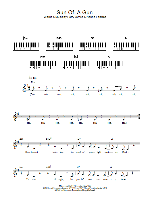 Sun Of A Gun Sheet Music