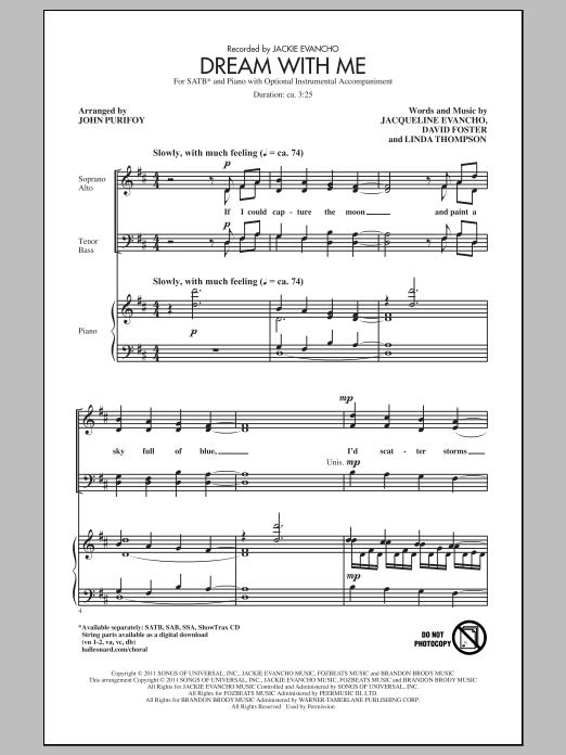 Dream With Me Sheet Music