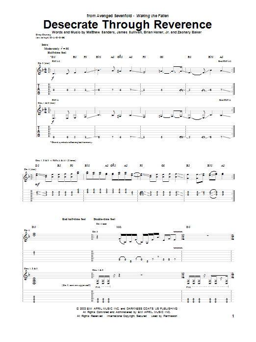 Desecrate Through Reverance Sheet Music