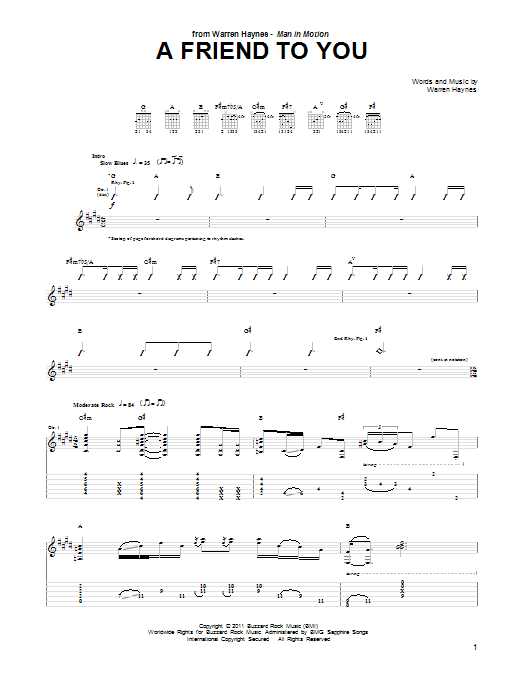 A Friend To You Sheet Music