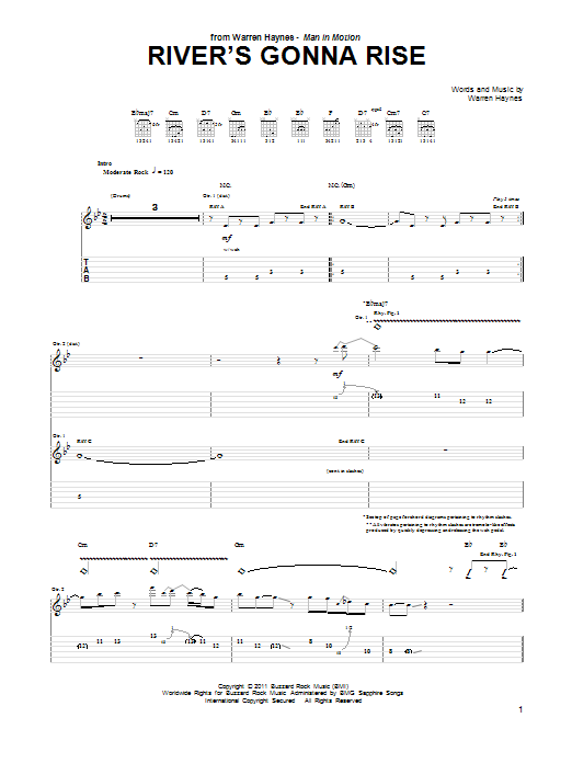 River's Gonna Rise (Guitar Tab)
