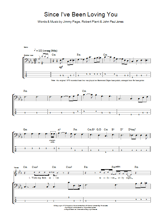 Since Ive Been Loving You Sheet Music Direct