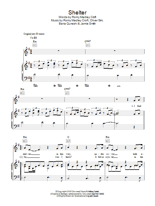 Shelter Sheet Music Direct