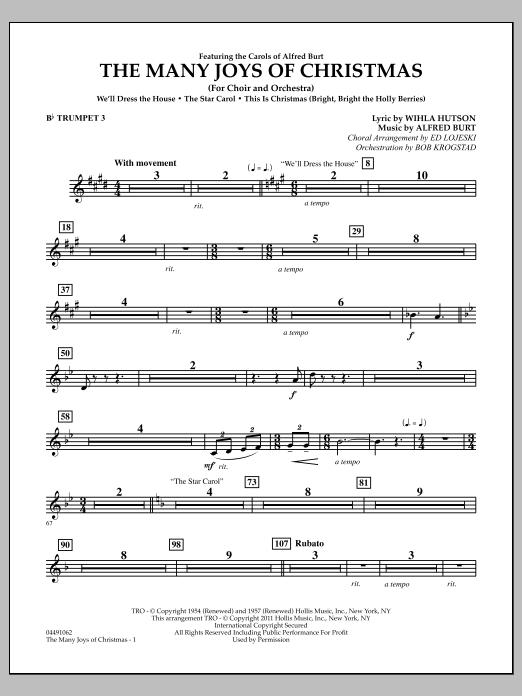 The Many Joys Of Christmas (Set One) - Bb Trumpet 3 (Full Orchestra)