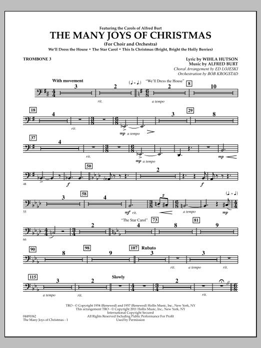 The Many Joys Of Christmas (Set One) - Trombone 3 (Full Orchestra)