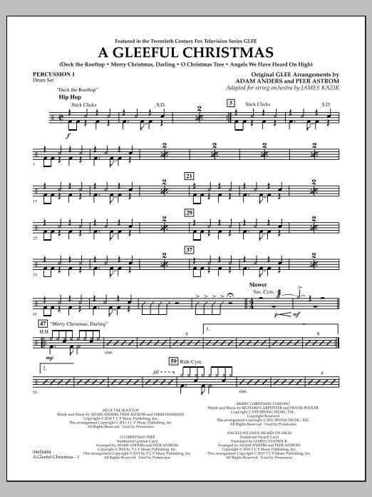 A Gleeful Christmas - Percussion 1 (Orchestra)