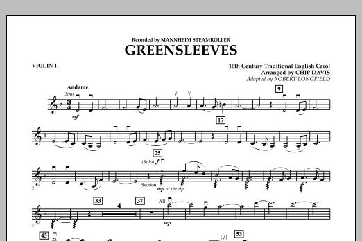 Greensleeves - Violin 1 (Orchestra)