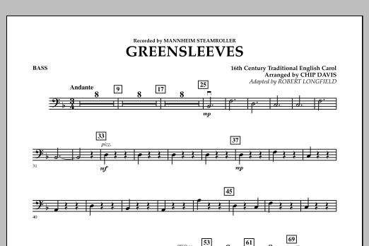 Greensleeves - Bass (Orchestra)