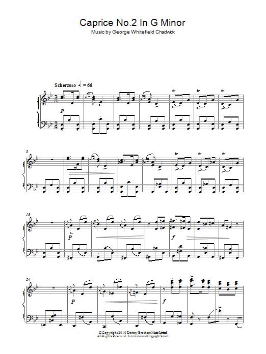 Caprice No.2 In G Minor Sheet Music