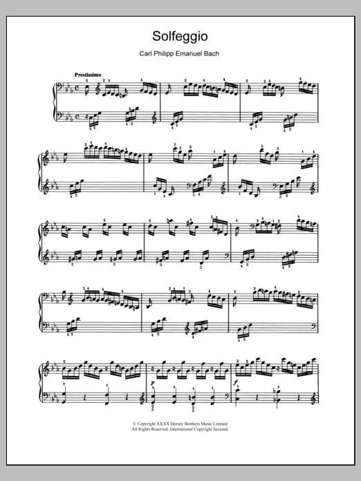 Solfeggio Sheet Music