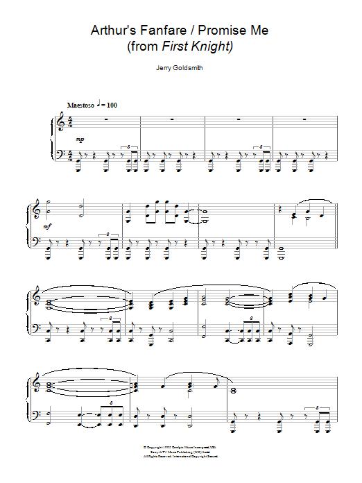 Arthur's Fanfare / Promise Me (Piano Solo)