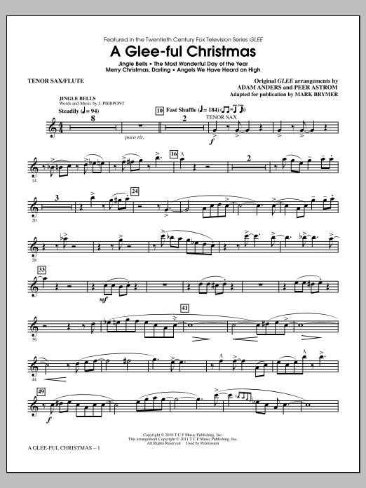 A Glee-ful Christmas (Choral Medley)(arr. Mark Brymer) - Tenor Sax/Flute (Choir Instrumental Pak)