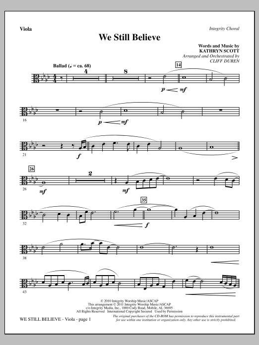 We Still Believe - Viola (Choir Instrumental Pak)