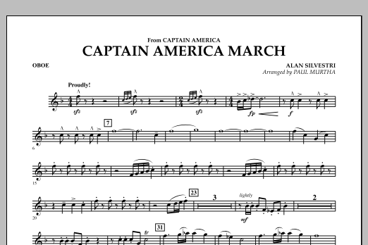 Captain America March - Oboe (Concert Band)