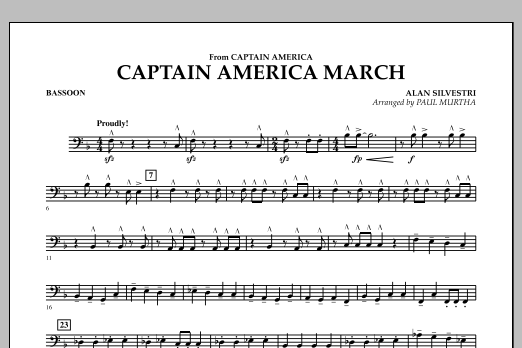 Captain America March - Bassoon (Concert Band)