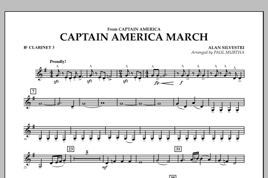 Captain America March - Bb Clarinet 3 (Concert Band)