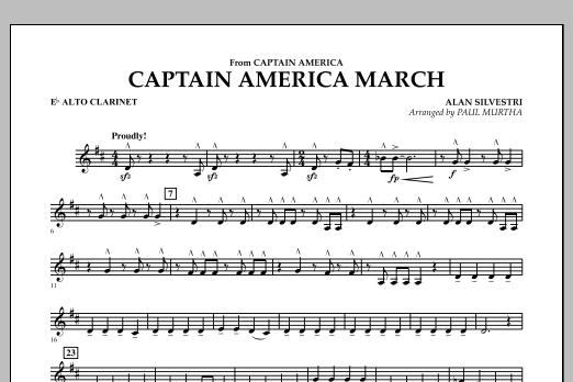 Captain America March - Eb Alto Clarinet (Concert Band)