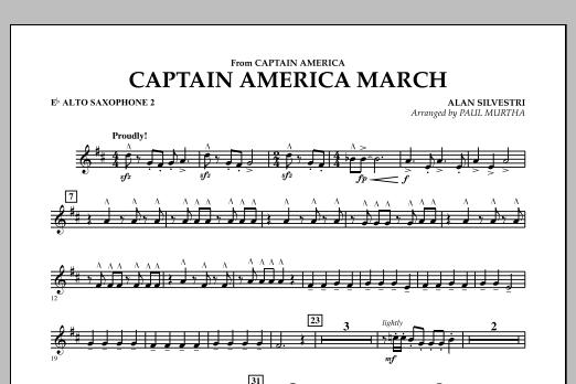 Captain America March - Eb Alto Saxophone 2 (Concert Band)