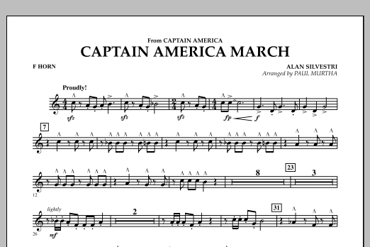 Captain America March - F Horn (Concert Band)