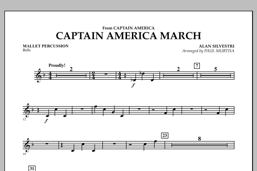 Captain America March - Mallet Percussion (Concert Band)