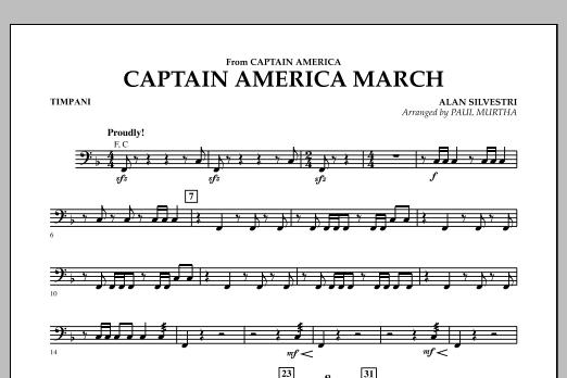 Captain America March - Timpani (Concert Band)