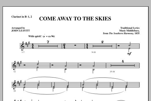 Come Away To The Skies - Bb Clarinet 1 & 2 (Choir Instrumental Pak)