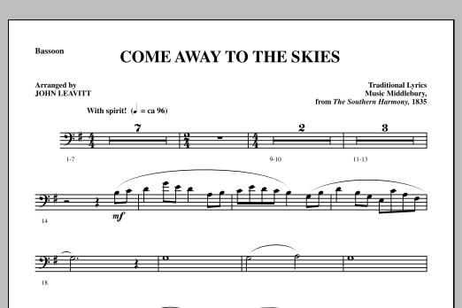 Come Away To The Skies - Bassoon (Choir Instrumental Pak)