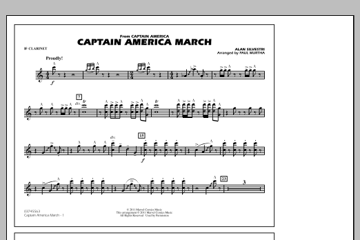 Captain America March - Bb Clarinet (Marching Band)