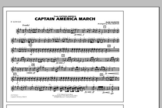 Captain America March - Eb Alto Sax (Marching Band)