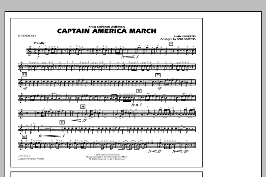 Captain America March - Bb Tenor Sax (Marching Band)