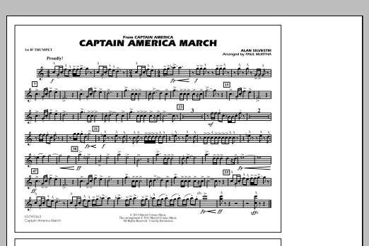Captain America March - 1st Bb Trumpet (Marching Band)