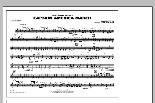 Captain America March - 3rd Bb Trumpet (Marching Band)