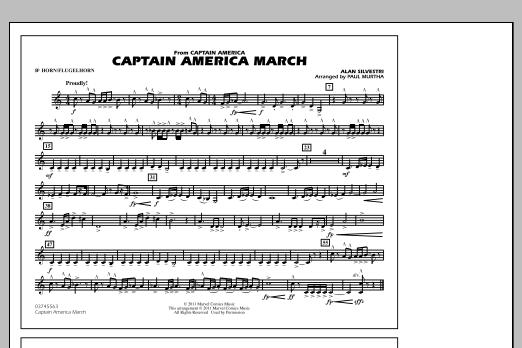 Captain America March - Bb Horn/Flugelhorn (Marching Band)