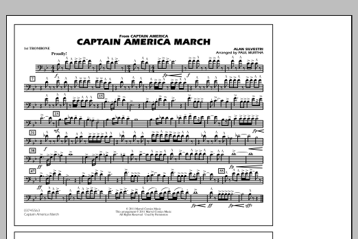 Captain America March - 1st Trombone (Marching Band)